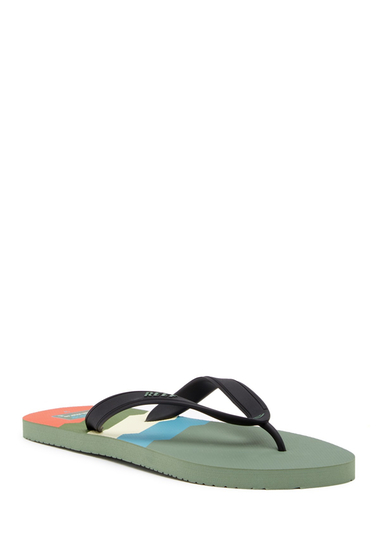 Incaltaminte Barbati Reef Switchfoot Prints Flip Flop 70S GREEN