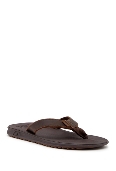 Incaltaminte Barbati Reef Slammed Rover Lux Leather Flip Flop BROWN