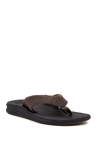 Incaltaminte Barbati Reef Rover Leather Flip Flop BLACK BROW