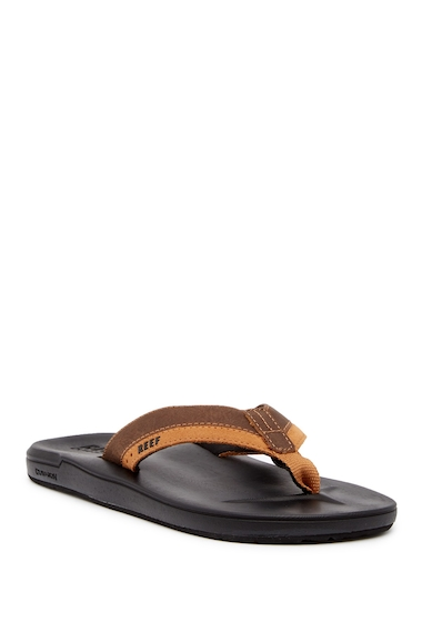 Incaltaminte Barbati Reef Contour Cushion Leather Flip Flop BLACK BROW