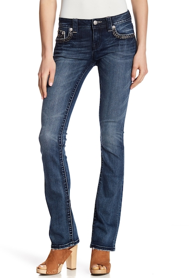 Imbracaminte Femei Miss Me Embellished Slim Leg Boot Cut Jeans MED BLU