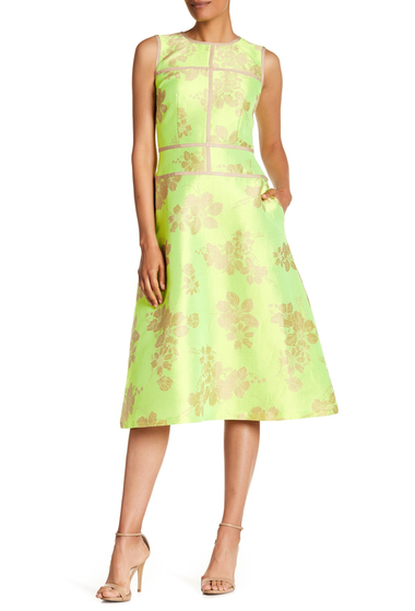 Imbracaminte Femei Lafayette 148 New York Damaris Floral Patterned Dress PARROT GREEN MULTI