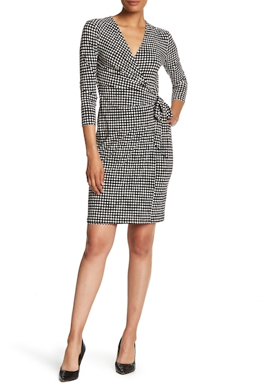 Imbracaminte Femei AK Anne Klein Ity Classic Wrap Dress BLK-PARCHMENT