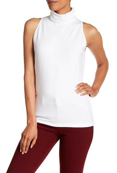 Imbracaminte Femei Lafayette 148 New York Sleeveless Knit Turtleneck WHITE