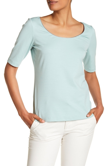 Imbracaminte Femei Lafayette 148 New York Chain Detailed Scoop Neck Tee BERYL GREEN