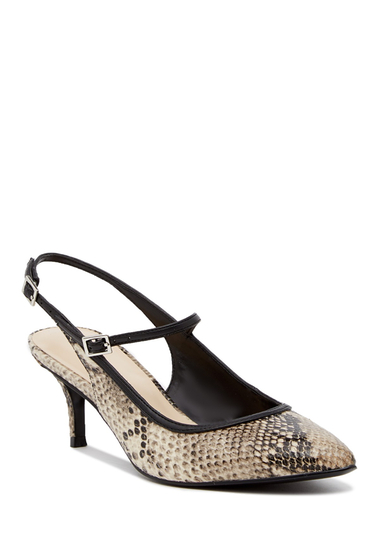 Incaltaminte Femei Nine West Majest Mary Jane Slingback Pump - Wide Width Available OFWBLK SY