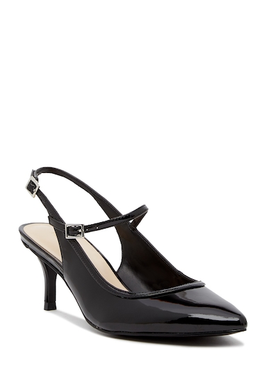 Incaltaminte Femei Nine West Majest Mary Jane Slingback Pump - Wide Width Available BLACK SY