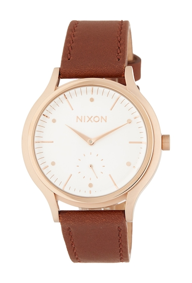 Ceasuri Femei Nixon Womens Sala Leather Strap Watch 38mm RGDWHBR