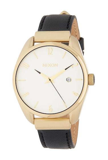 Ceasuri Femei Nixon Womens Bullet Leather Luxe Watch 38mm GOLDBLK