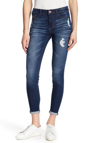 Imbracaminte Femei Jolt Distress Rolled Skinny Jeans BLUE