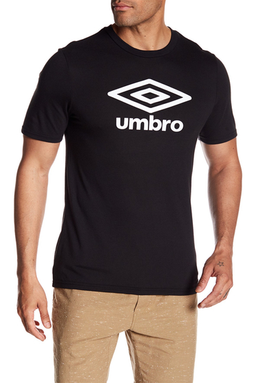 Imbracaminte Barbati Umbro Diamond Ultra Logo Tee BLACK WHITE