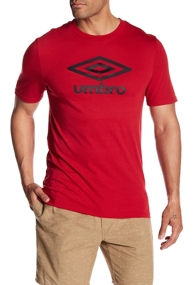 Imbracaminte Barbati Umbro Diamond Ultra Logo Tee JESTER RED BLACK BE