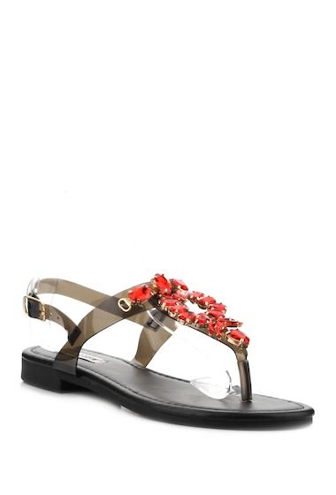 Incaltaminte Femei Cape Robbin Omh Embellished T-Strap Sandal BLACK