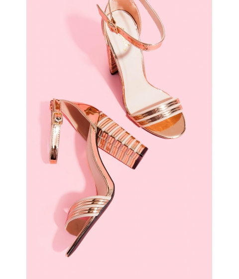 Incaltaminte Femei CheapChic Good Times Rose Gold Heel Rose Gold