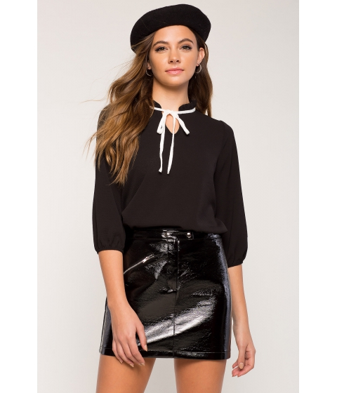 Imbracaminte Femei CheapChic Tie Neck Blouse Black