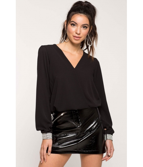 Imbracaminte Femei CheapChic Rhinestone Evening Surplice Blouse Black