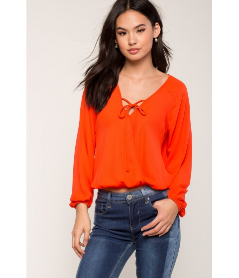 Imbracaminte Femei CheapChic Jasmine Tie Front Surplice Orange