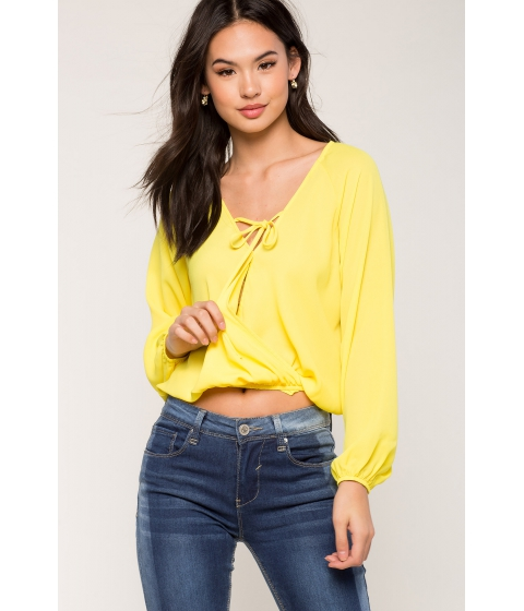Imbracaminte Femei CheapChic Jasmine Tie Front Surplice Yellow