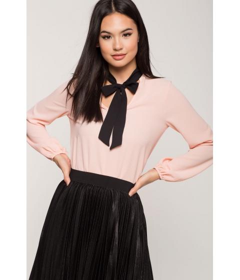 Imbracaminte Femei CheapChic Kelsey Tie Neck Blouse Blush