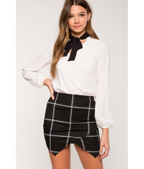 Imbracaminte Femei CheapChic Kelsey Tie Neck Blouse White