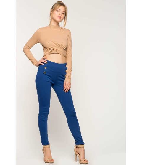Imbracaminte Femei CheapChic Resort Button Ponte Pants Royal