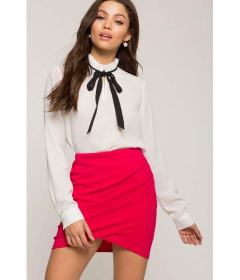 Imbracaminte Femei CheapChic Ruched Origami Mini Skirt Fuchsia