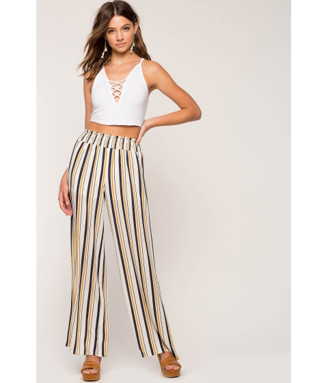 Imbracaminte Femei CheapChic Maria Stripe Wide Leg Pant Yellow Pattern
