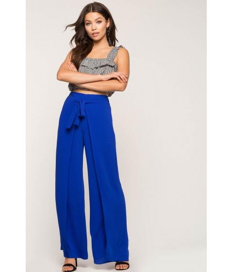 Imbracaminte Femei CheapChic Tie Front Wrap Pants Neon Royal