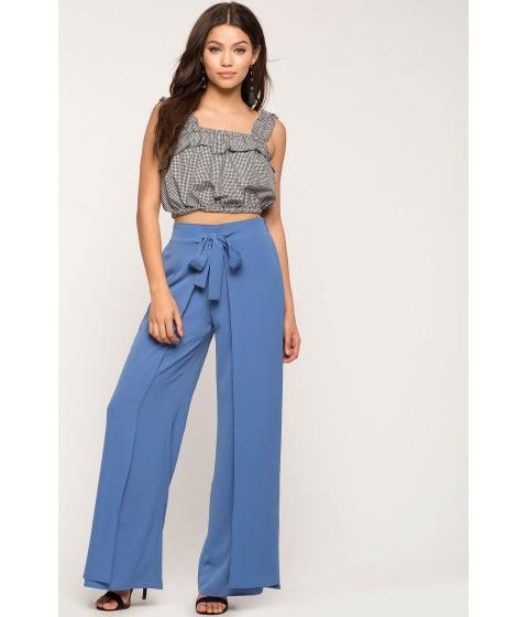 Imbracaminte Femei CheapChic Tie Front Wrap Pants Blue