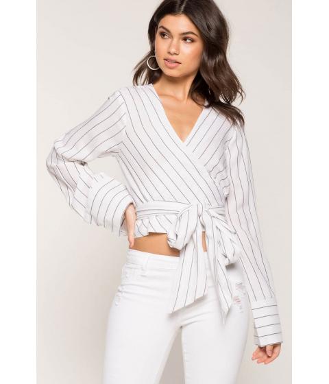 Imbracaminte Femei CheapChic Tie Waist Stripe Top White Pattern