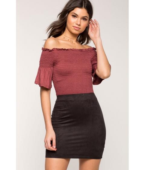 Imbracaminte Femei CheapChic Simply Suede Mini Skirt Black