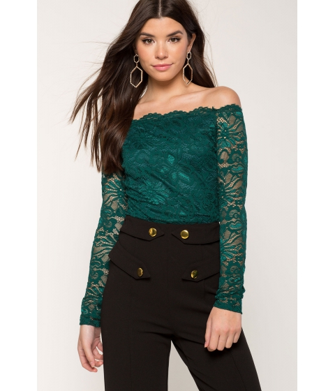 Imbracaminte Femei CheapChic Lace Off Shoulder Hunter