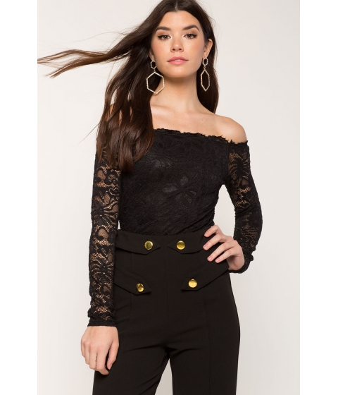 Imbracaminte Femei CheapChic Lace Off Shoulder Black
