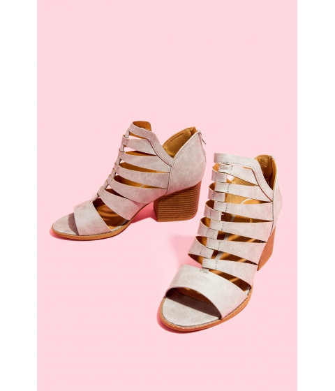 Incaltaminte Femei CheapChic Hard To Love Block Heel Gray