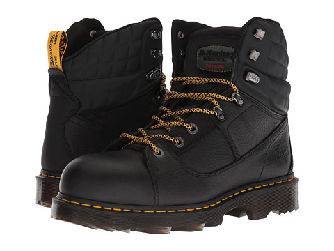 Incaltaminte Barbati Dr Martens Camber Steel Toe Ex Wide Black Industrial BearBlack Soft Rubbery