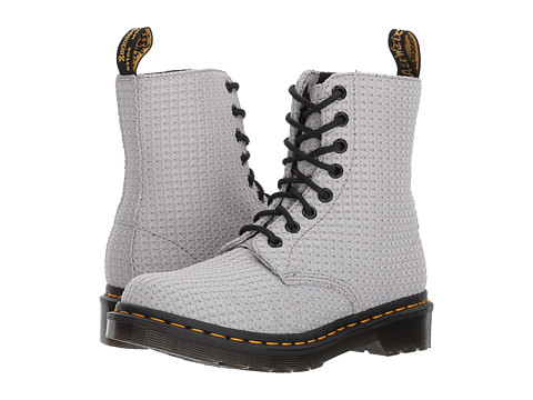 Incaltaminte Femei Dr Martens Page WC Padded Collar Boot Mid Grey Waffle Cotton