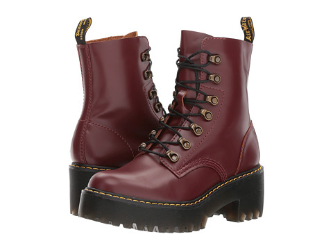 Incaltaminte Femei Dr Martens Leona 7 Hook Boot Oxblood Vintage Smooth