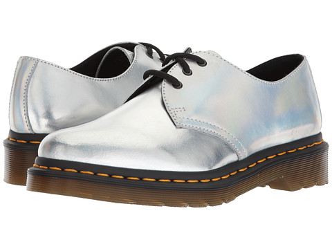 Incaltaminte Femei Dr Martens 1461 RS 3-Eye Shoe Silver Lazer Reflective Metallic Leather