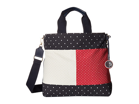 Genti Femei Tommy Hilfiger Nia Convertible Tote NavyMulti