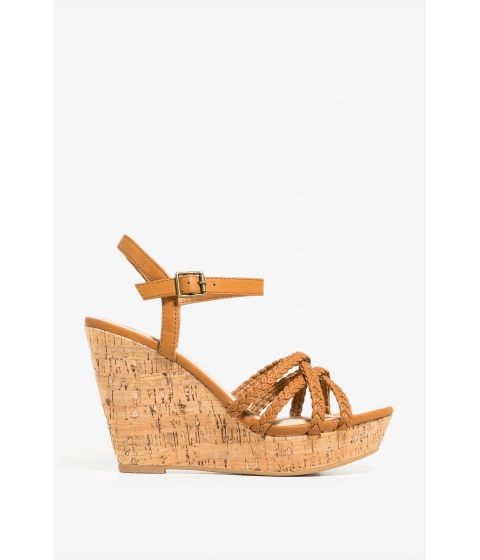 Incaltaminte Femei CheapChic Second Date Wedge Cognac