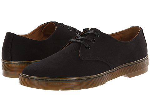 Incaltaminte Barbati Dr Martens Delray 3-Eye Black Overdyed Twill Canvas