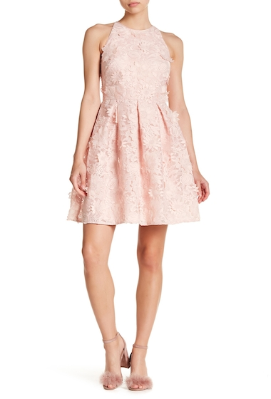 Imbracaminte Femei Ted Baker London Sweetee Lace Skater Dress BABY-PINK