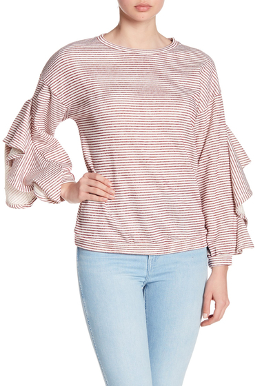 Imbracaminte Femei Ro De Ruffle Split Sleeve Sweater WINE MULTI