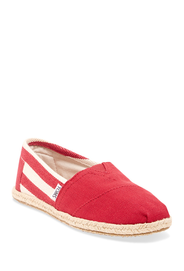 Incaltaminte Femei TOMS Stripe University Slip-On RED