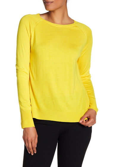 Imbracaminte Femei Philosophy Apparel Long Sleeve Knit Sweater YELLOW