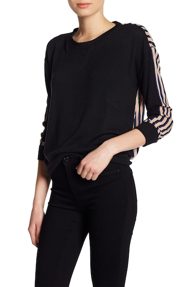 Imbracaminte Femei William Rast Tye Contrast Stripe Back Sweater JET BLACK