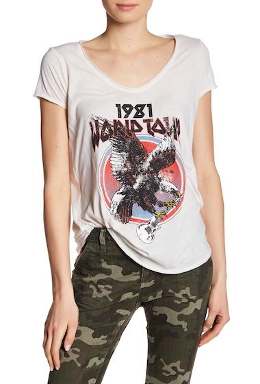 Imbracaminte Femei William Rast Stardust Rocker Graphic Tee 1981 WORLD TOUR - MARSHMALLOW