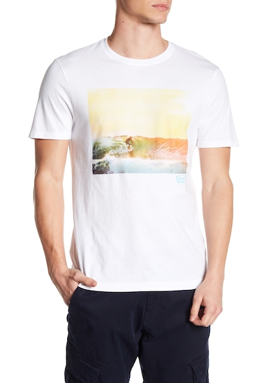 Imbracaminte Barbati Original Penguin Photo Surf Tee BRIGHT WHITE