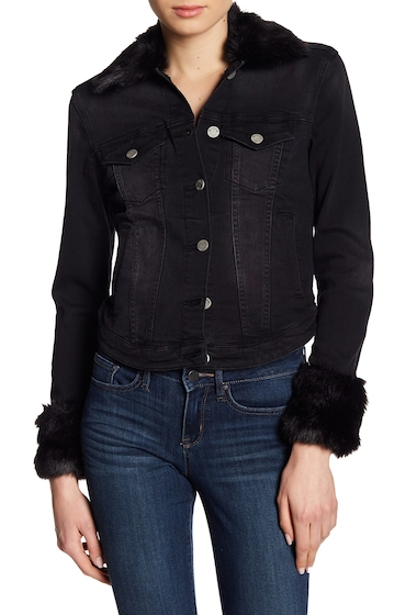 Imbracaminte Femei William Rast Sussex Faux Fur Lined Denim Jacket DARKEST DREAM