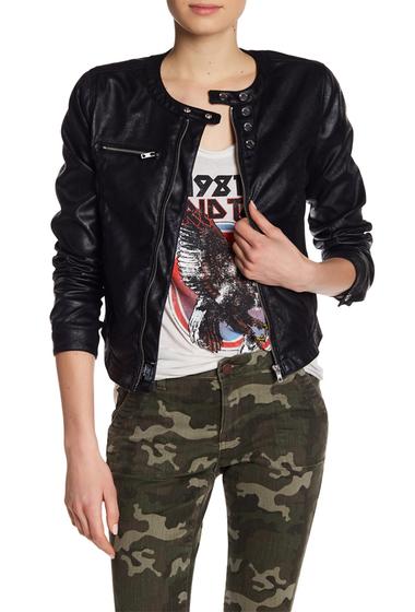 Imbracaminte Femei William Rast Rogue Revolution Moto Jacket JET BLACK